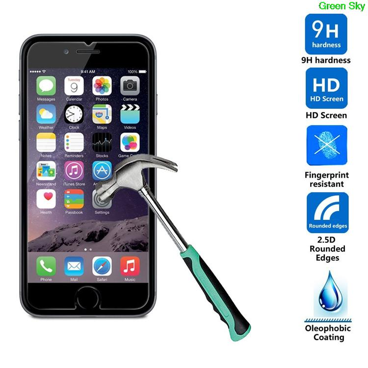 pelicula de vidro screen protector Glass for iphone 6 tempered glass for Apple iphone 6s Plus screen protector 4.7' 0.3mm case